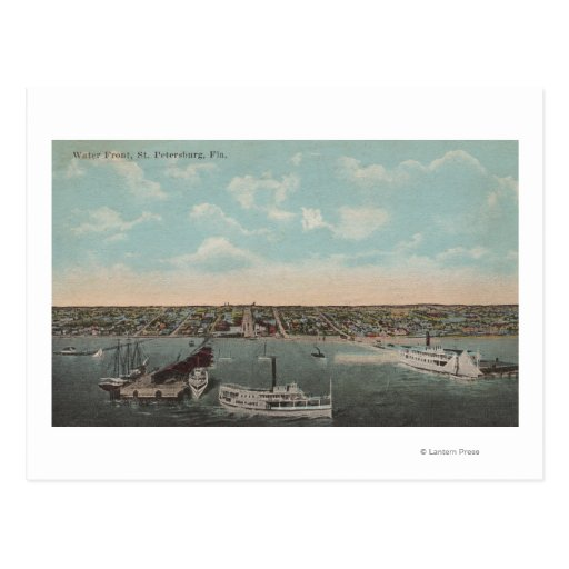 St. Petersburg, FL - Waterfront View with Post Card
