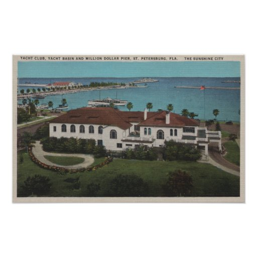 St. Petersburg, Florida - Aerial of Yacht Posters