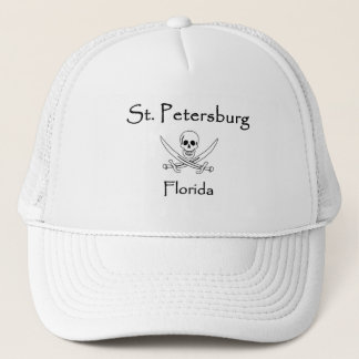 St. Petersburg Florida Jolly Roger Trucker Hat