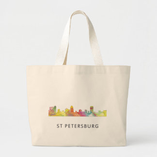 ST PETERSBURG FLORIDA SKYLINE WB1 - LARGE TOTE BAG