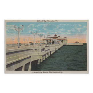 St. Petersburg, Florida - View of Million Dollar Poster