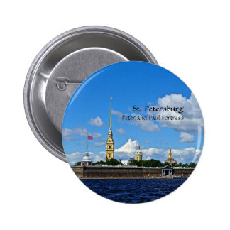 St. Petersburg, Peter and Paul Fortress 6 Cm Round Badge