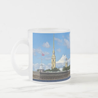 St. Petersburg, Peter and Paul Fortress Frosted Glass Mug