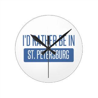 St. Petersburg Round Clock