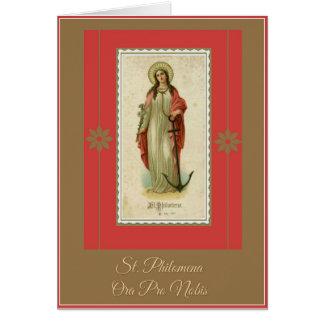 St. Philomena Greeting/Note Card w/prayer