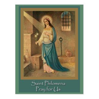 St. Philomena Wonder Worker Feast Day Aug 10 Postcard