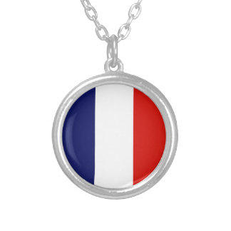 ST. PIERRE Flag Silver Plated Necklace