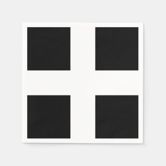 St. Piran's flag / flag of Cornwall Disposable Napkins