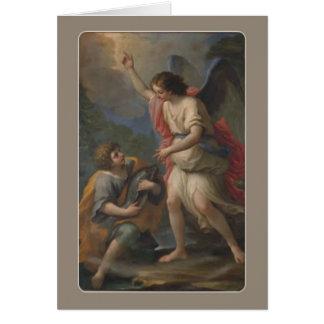 St. Raphael Archangel and Tobias Card
