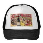 St. Raphael Quinquina Vintage Wine Ad Art Mesh Hats