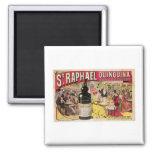 St. Raphael Quinquina Vintage Wine Ad Art Refrigerator Magnet