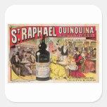 St. Raphael Quinquina Vintage Wine Ad Art Square Sticker