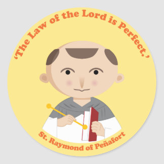 St. Raymond of Peñafort Classic Round Sticker
