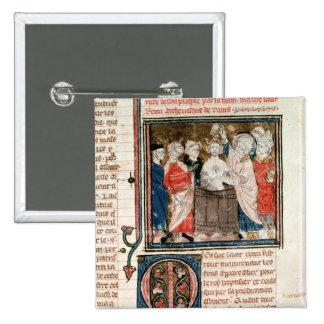 St. Remigius  Bishop of Rheims 15 Cm Square Badge