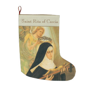 St. Rita of Cascia Large Christmas Stocking