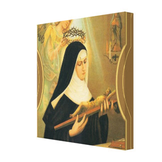 St. Rita of Cascia w/Crown of Thorns Angel Canvas Print