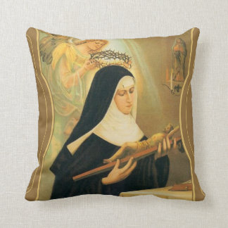 St. Rita of Cascia w/Crown of Thorns Angel Cushion