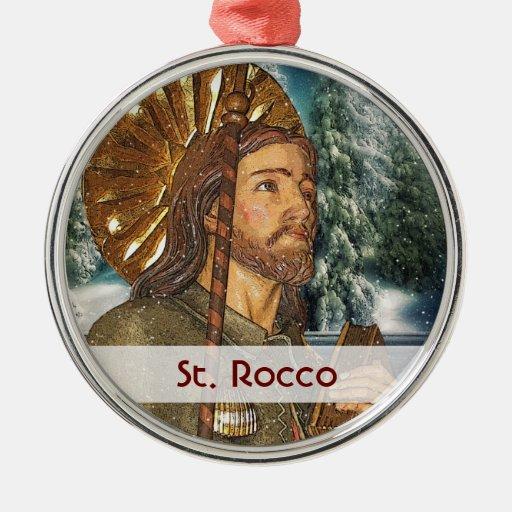 St. Rocco - San Rocco - St. Roch Silver Ornament