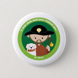 St. Roch 6 Cm Round Badge
