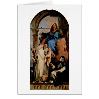 St.Rosa Keeps Child By Giovanni Battista Tiepolo Card