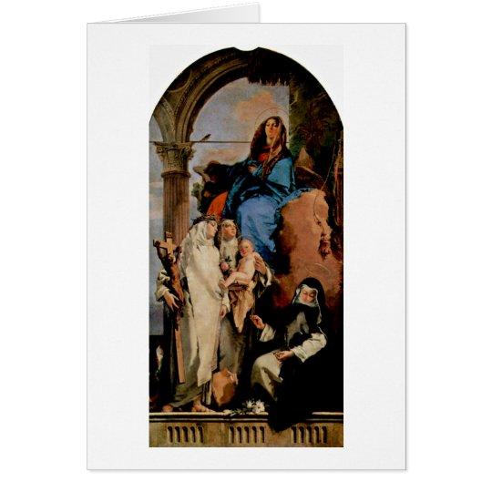 St.Rosa Keeps Child By Giovanni Battista Tiepolo Card