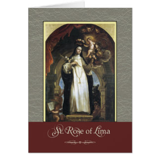 St. Rose of Lima Pray For Us Card