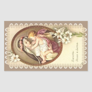 St. Rose of Lima Rectangular Sticker