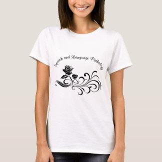 st rose scroll black T-Shirt