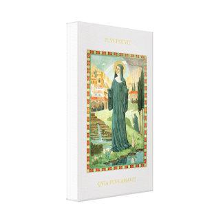 St. Scholastica & St. Benedict Canvas Print