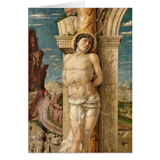 St. Sebastian By Andrea Mantegna Card