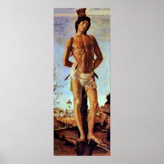St. Sebastian by Sandro Botticelli Poster