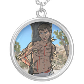 St Sebastian Round Pendant Necklace