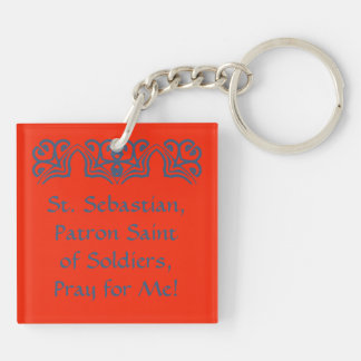 St. Sebastian (SNV 24) Blank/DIY Back Key Ring