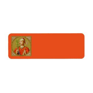 St. Sebastian (SNV 24) (Square Image) Horizontal Return Address Label