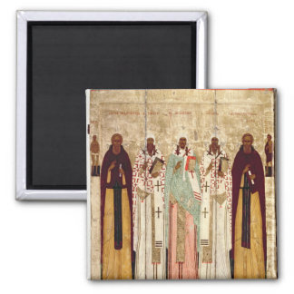 St. Sergius of Radonesh with the Saints of Square Magnet