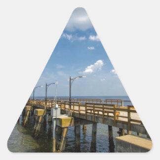 St Simon's Island Georgia Public Pier Triangle Sticker