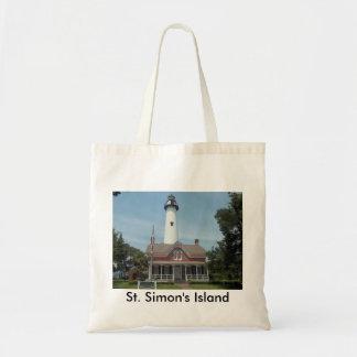 St. Simon's Lighthouse Tote Bag