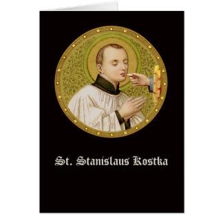 St. Stanislaus (SNV 25) (RndImage) Vert Greeting Card