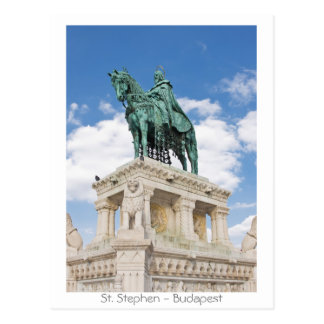 St. Stephen - Budapest Postcard