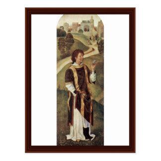 St. Stephen By Memling Hans Postcard