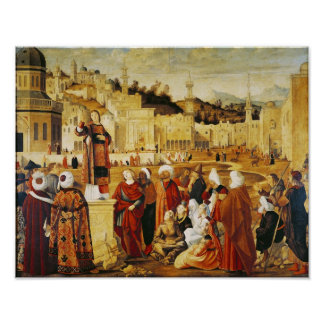 St. Stephen Preaching Poster
