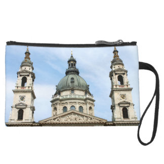 St Stephens Basilica and Clock Tower in Budapest Wristlet Purses