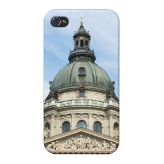 St Stephens Basilica and Clock Tower in Budapest iPhone 4 Cases
