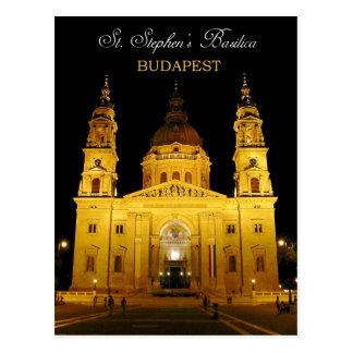 St. Stephen's Basilica at night, Budapest, Hungary Postcard