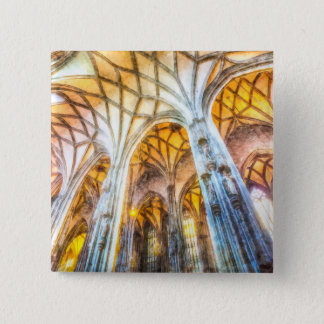 St Stephens Cathedral Vienna Art 15 Cm Square Badge