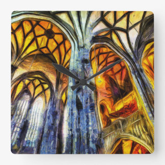 St Stephens Cathedral Vienna Art Square Wall Clock