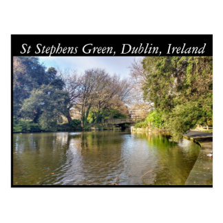 St Stephens Green, Dublin, Ireland Postcard