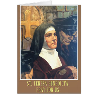 ST. TERESA BENEDICTA OF THE CROSS EDITH STEIN CARD