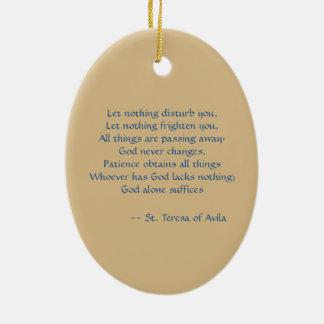 St. Teresa of Avila (SAU 28) Oval Ceramic Ornament