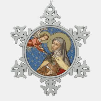 St. Teresa of Avila (SAU 28) Snowflake Pewter Christmas Ornament